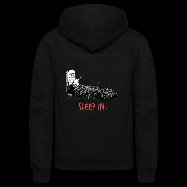 sleeping in - Unisex Fleece Zip Hoodie