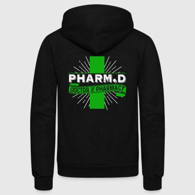 DOCTOR OF PHARMACY T SHIRT - Unisex Fleece Zip Hoodie by American Apparel