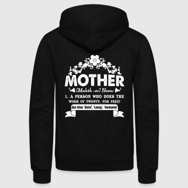 Mother Definition Mother's Day T Shirt - Unisex Fleece Zip Hoodie