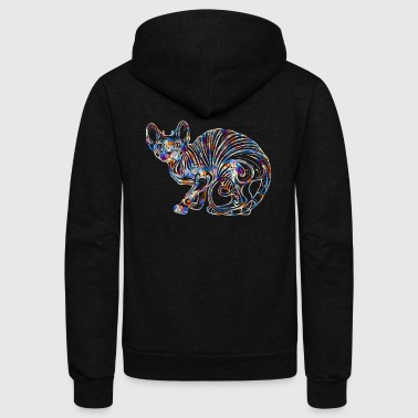 Sphynx Cat Tee Shirt - Unisex Fleece Zip Hoodie