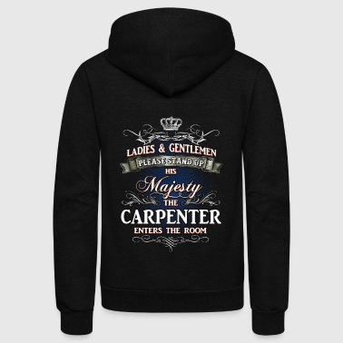 Shirts for Men, Job Shirt Carpenter - Unisex Fleece Zip Hoodie