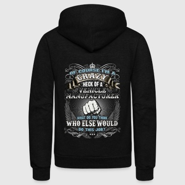 Shirts for Men, Job Shirt Vehicle Manufacturer - Unisex Fleece Zip Hoodie