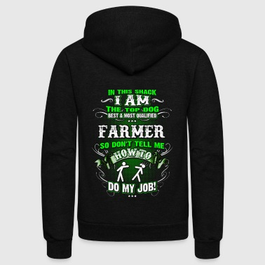 Shirts for Men, Job Shirt Farmer - Unisex Fleece Zip Hoodie