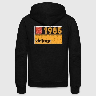 Music Producer Clothes 1985 Vintage Cassette Birthday Shirt - Unisex Fleece Zip Hoodie