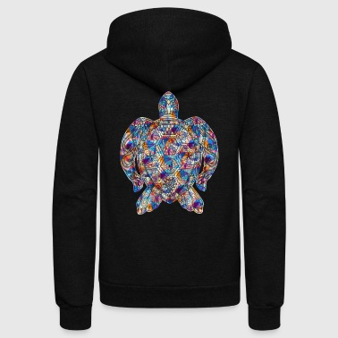 Turtle Tee Shirt - Unisex Fleece Zip Hoodie by American Apparel