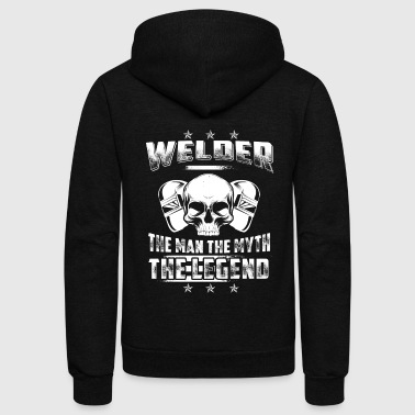 Welder The Legend Welder T-Shirts - Unisex Fleece Zip Hoodie