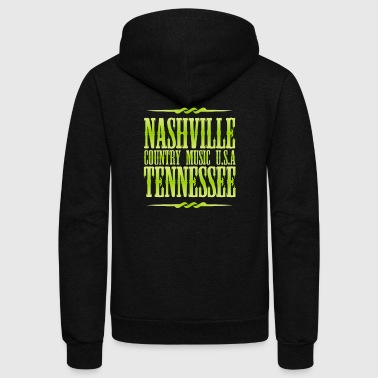 Nashville Tennessee Country Music - Unisex Fleece Zip Hoodie