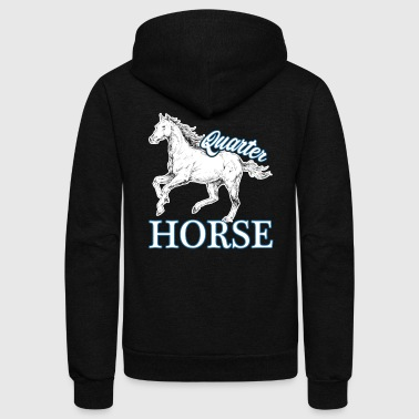 QUARTER HORSE SHIRT - Unisex Fleece Zip Hoodie