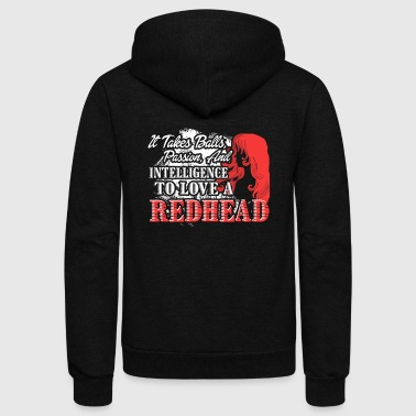 BALLS TO LOVE REDHEAD SHIRT - Unisex Fleece Zip Hoodie by American Apparel