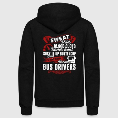 Bus Driver Tee Shirt - Unisex Fleece Zip Hoodie