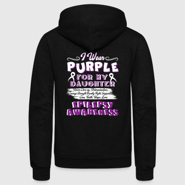 EPILEPSY AWARENESS T-SHIRT - Unisex Fleece Zip Hoodie