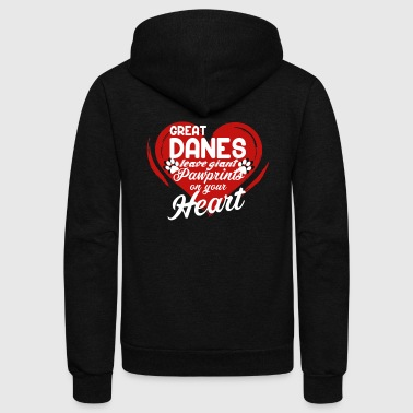 GREAT DANE PAWPRINTS SHIRT - Unisex Fleece Zip Hoodie