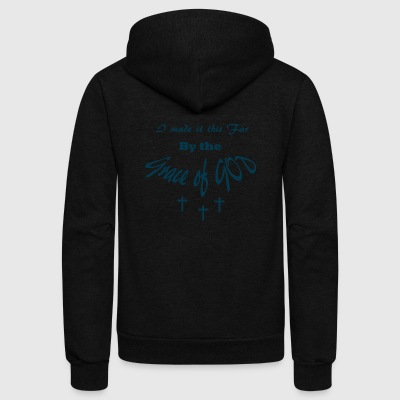 Grace of God Tshirt - Unisex Fleece Zip Hoodie by American Apparel