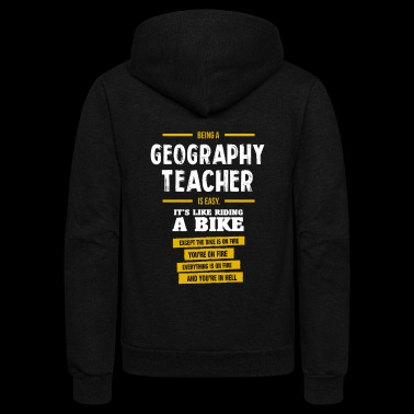 Geography teacher - Unisex Fleece Zip Hoodie
