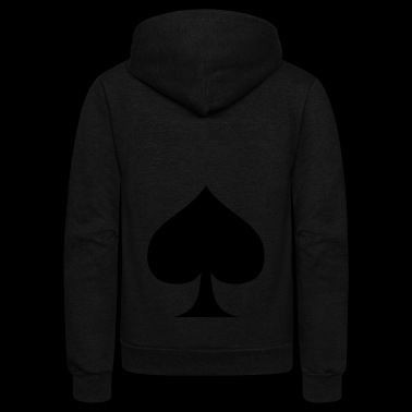 Suit of Spades Spade Pik Peak Mountaintop Cardgame - Unisex Fleece Zip Hoodie