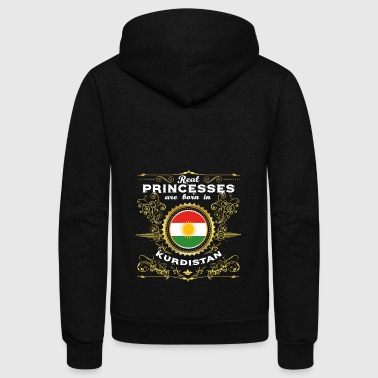 PRINZESSIN PRINCESS QUEEN BORN KURDISTAN KURDE - Unisex Fleece Zip Hoodie by American Apparel