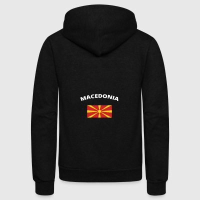 ich liebe home heimat love wurzeln MACEDONIA - Unisex Fleece Zip Hoodie by American Apparel
