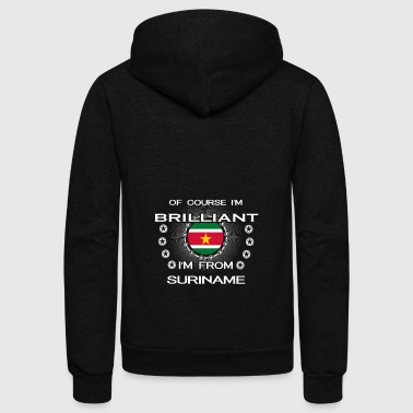 I AM GENIUS CLEVER BRILLIANT SURINAME - Unisex Fleece Zip Hoodie