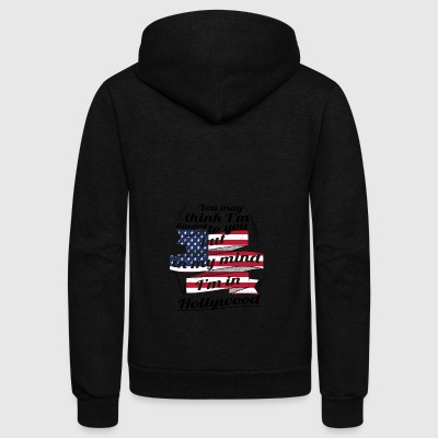 THERAPIE URLAUB AMERICA USA TRAVEL Hollywood - Unisex Fleece Zip Hoodie by American Apparel