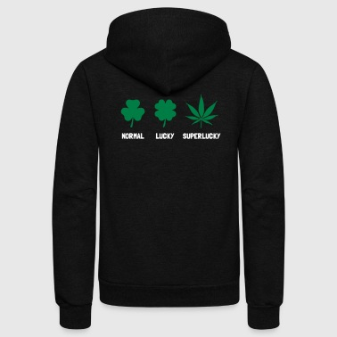 Cannabis / Hemp / Shamrock - Super Lucky mode - Unisex Fleece Zip Hoodie
