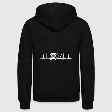 home roots queen love from heart Suedkorea png - Unisex Fleece Zip Hoodie