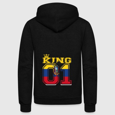 couple land king 01 prince Ecuador - Unisex Fleece Zip Hoodie by American Apparel