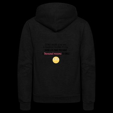 A hundred reasons to cry - Unisex Fleece Zip Hoodie