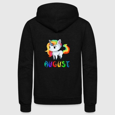 August Unicorn - Unisex Fleece Zip Hoodie