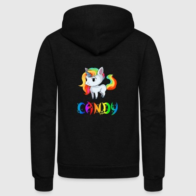 Candy Unicorn - Unisex Fleece Zip Hoodie by American Apparel