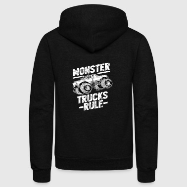 MONSTER TRUCKS RULE Tshirt - Unisex Fleece Zip Hoodie