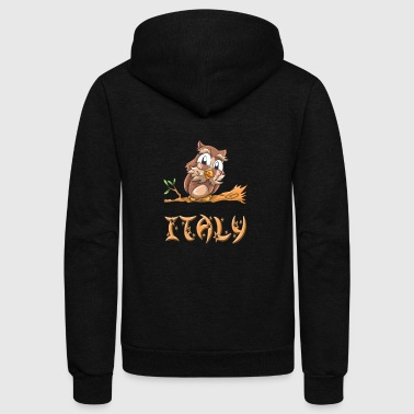Italy Owl - Unisex Fleece Zip Hoodie by American Apparel