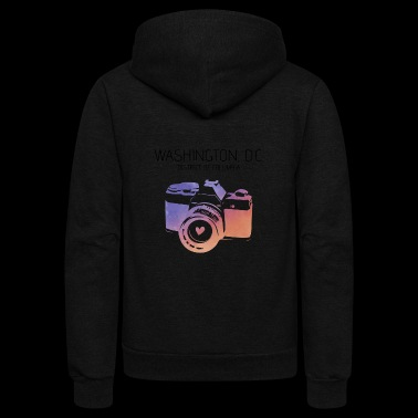 Camera Washington D.C. - Unisex Fleece Zip Hoodie