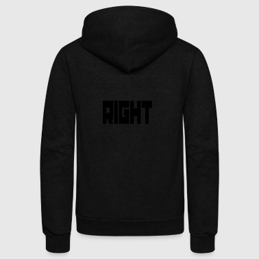 Right - Unisex Fleece Zip Hoodie