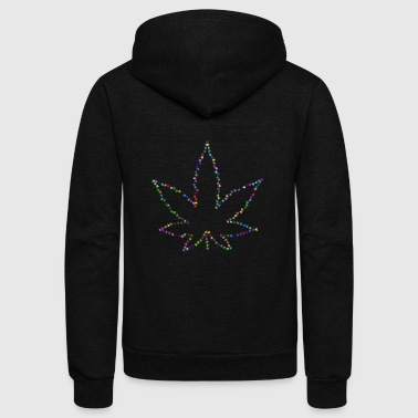 hanf cannabis kiffen marijuana hemp grass gras43 - Unisex Fleece Zip Hoodie