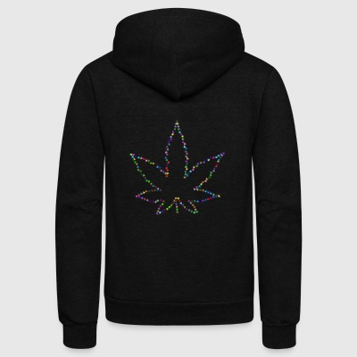 hanf cannabis kiffen marijuana hemp grass gras43 - Unisex Fleece Zip Hoodie by American Apparel