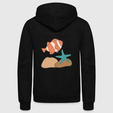 under water - Unisex Fleece Zip Hoodie
