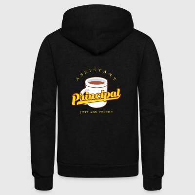 Assistant Principal Just Add Coffee Gift - Unisex Fleece Zip Hoodie by American Apparel