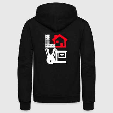 Love Realty Real Estate Shirt - Unisex Fleece Zip Hoodie