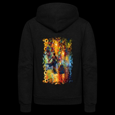 Painting Princess fighters with small droid - Unisex Fleece Zip Hoodie
