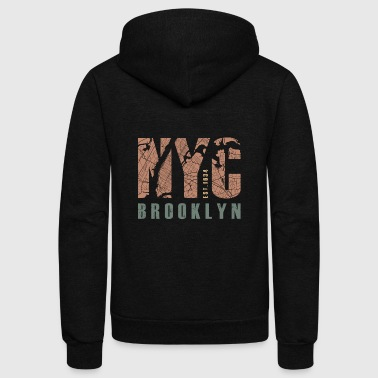 NYC Brooklyn - Unisex Fleece Zip Hoodie