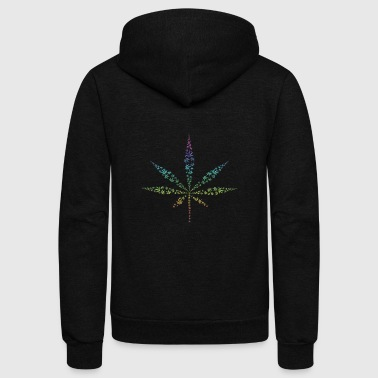 hanf cannabis kiffen marijuana hemp grass gras13 - Unisex Fleece Zip Hoodie