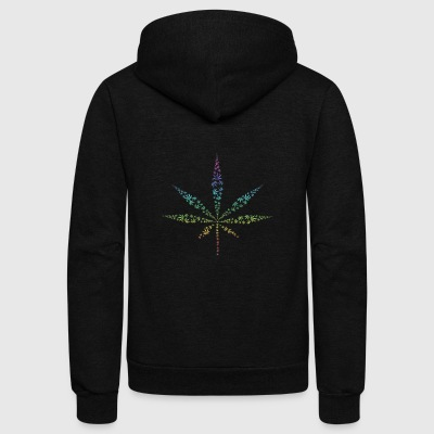 hanf cannabis kiffen marijuana hemp grass gras13 - Unisex Fleece Zip Hoodie by American Apparel