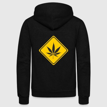 hanf cannabis kiffen marijuana hemp grass gras16 - Unisex Fleece Zip Hoodie