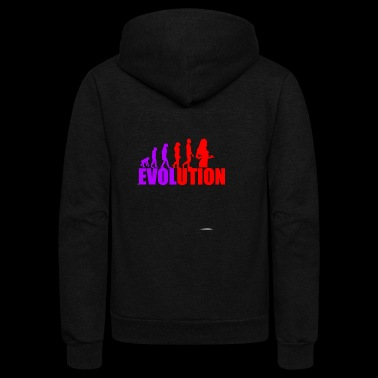 evolution - Unisex Fleece Zip Hoodie