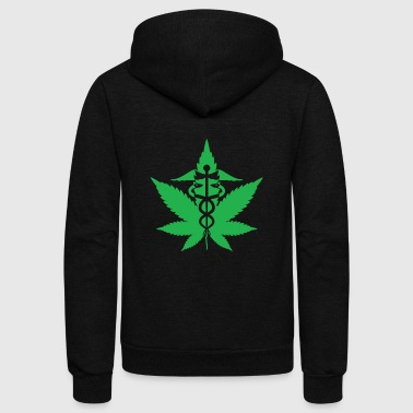 caduceus marijuana - Unisex Fleece Zip Hoodie
