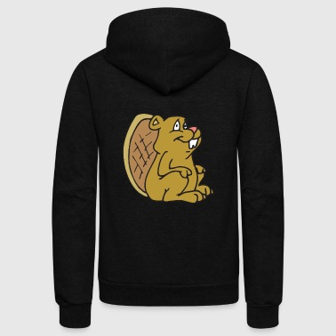 beaver - Unisex Fleece Zip Hoodie by American Apparel