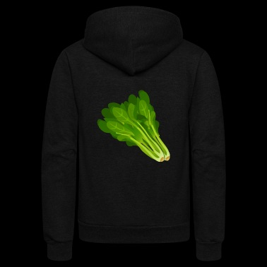 Lettuce Salad Spinace Gift Present - Unisex Fleece Zip Hoodie