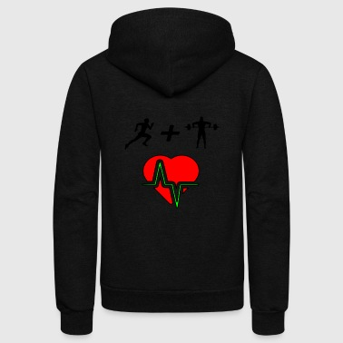 healthy heart from fitness - Unisex Fleece Zip Hoodie