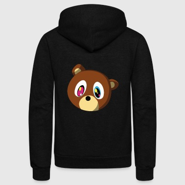Kanye Bear - Unisex Fleece Zip Hoodie by American Apparel