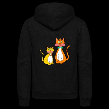 stylized cats - Unisex Fleece Zip Hoodie